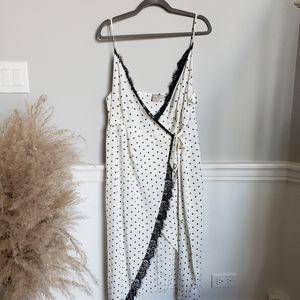 ASOS maternity polka dot wrap dress